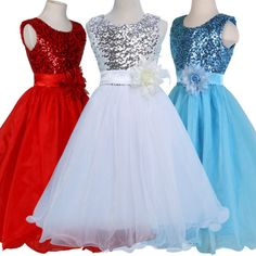 #White #flower girls kids #bridesmaid birthday formal wedding prom dresses age 7-, View more on the LINK: http://www.zeppy.io/product/gb/2/301909933552/