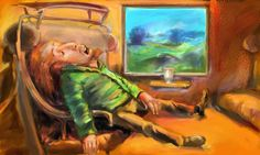 Sleeper train. Corel painter.