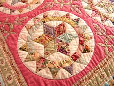 https://flic.kr/p/PxMiz | Raspberry Sorbet Centre Detail 1 | There are four different centres in this quilt, all paper pieced