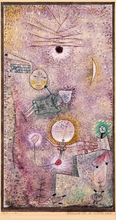 Paul Klee (1879-1940), Schicksale um die Jahres-Wende (Fates at the Turn of the Year), 1922 (113). Watercolour on chalk grounding on paper, surrounded by watercolour and ink on cardboard. 34.5cm H x 18.5cm W.