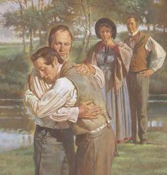 """When Joseph Smith Sr. was baptized on April 6, 1830 and came out of the water, the Prophet http://facebook.com/217921178254609 """"covered his face in his father's bosom and wept aloud for joy.""""… Learn more about Joseph Smith (founding prophet of The Church of Jesus Christ of Latter-day Saints lds.org, commonly called the """"Mormon"""" church mormon.org), by enjoying this moving portrayal http://youtu.be/1xVw6PsSinI of his remarkable life and mission as a modern-day witness of the Savior, Jesus…"""