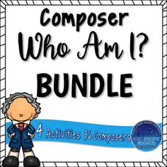Learn about 36 different composers in a fun and interactive way. This bundle includes 4 different activities. Answer keys and black and white options available!Composers J. Music Education Lessons, Lead Sheet, Music Composers, Elementary Music, Teaching Music, Matching Games, My Teacher, Teacher Resources, Lesson Plans