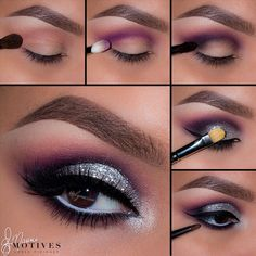 Glittering Silver and Purple Stunner from @elymarino Using @Motives — VIP Faces