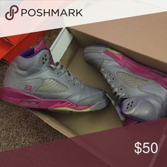 Jordan retro 5 Not the best condition but are easily cleaned up. Jordan Shoes Sneakers