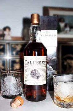Talisker - the only single malt whisky made on the Isle of Skye - click to enlarge ...