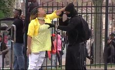 Baltimore mom sees son preparing to riot and smacks him upside the head. Way to mom, mom. Baltimore Riots, Large Crowd, Other Mothers, Famous Celebrities, Powerful Women, News Today, Current Events, The Ordinary, Black Women
