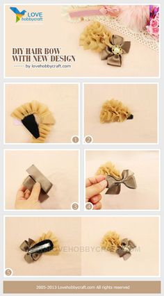 DIY hair bow with new design