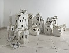 a glimpse of the installation x x cardboard, wood, plaster and synthetic paint 2014 Architecture Portfolio, Architecture Plan, Architecture Details, Architecture Models, Perspective Art, Arch Model, Post Traumatic, Poster Layout, Paris Eiffel Tower