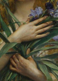 Giclee Print: Georges Roussin, Ophelia detail by Vintage Lavoie : Renaissance Kunst, Inspiration Artistique, Most Famous Artists, Pre Raphaelite, Old Paintings, Classical Art, Old Master, Art Plastique, Oeuvre D'art