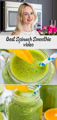 Best Spinach Smoothie [video] - Pinokyo  Check out this healthy and delicious Spinach Smoothie made with baby spinach, almond milk, bananas, #Pinokyo #Smoothie #Spinach #video Best Smoothie Recipes, Juice Recipes, Healthy Energy Drinks, Healthy Snacks, How To Make Spinach, Spinach Benefits, Diabetic Drinks, Smoothies With Almond Milk, Banana Milk