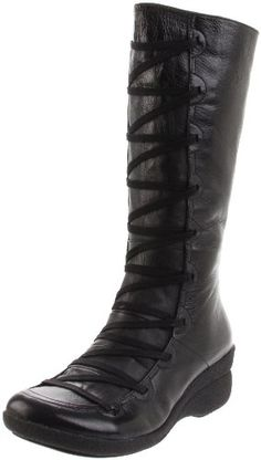 7781bbc90c62  129.95 The Miz Mooz Otis womens wedge knee-high boot is funky and fun!