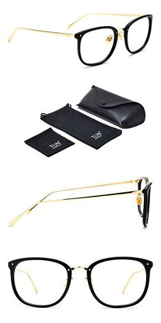 466c759bcdc0 TIJN Vintage Optical Acetate Eyewear Eyeglasses Frame with Clear Lenses