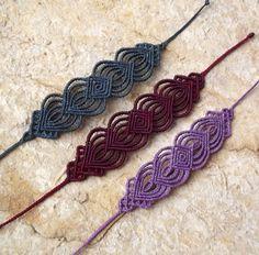 Macrame unique knotted bracelets - makramé csomózott egyedi ékszer, karkötő…