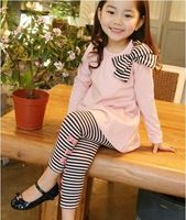 New Kids Girls Bow Striped Leggings Suit Long Sleeve Shirts Tops Sets Size Year Follwing Size Chart For Reference: Age Length Shoulder Bust Sleeve Pants length Waist (Elastic Toddler Girl Outfits, Baby Girl Dresses, Kids Outfits, Legging Outfits, Striped Leggings, Leggings Are Not Pants, Girls Leggings, Stripe Pants, Fashion Kids