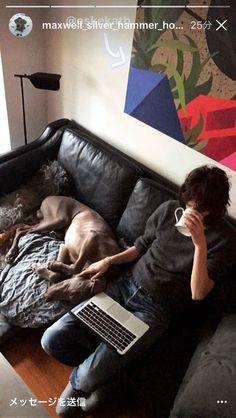 Freja Beha Erichsen, Weimaraner, Androgynous, New Life, Tomboy, Make Me Smile, Doggies, Indoor, Puppies