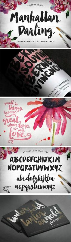 Manhattan Darling Typeface + BONUS OTF + TTF | 2 Fonts | EPS, AI