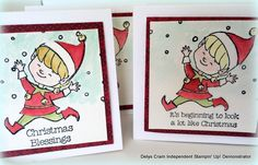 SU - Little notecards using the Christmas Cuties Stamp set