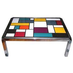 #Mondrian #Design #Table