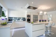 "A selection of our modern kitchens offering cutting edge design and innovations, this also includes our ""HANDLELESS"" kitchens."