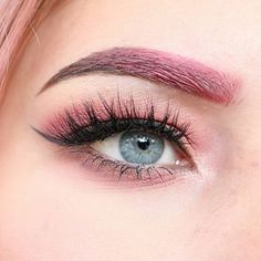 Pink ombre brows and big lashes :heart_eyes::heart_eyes: Brows were done with @anastasiabeverlyhills creme colour bases in sunset and dipbrow in medium brown. Eyes were done with @morphebrushes @jaclynhill favorites palette, @tartecosmetics liner, @benef