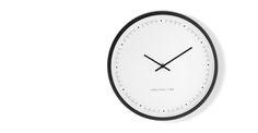 Aurelia Wall Clock, Matt Black | made.com
