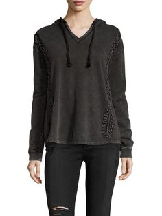 Cotton Washed Hoodie by Firth at Gilt