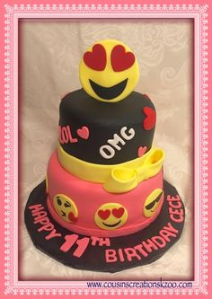 Emoji Cake Cousin's Creations Birthday Cakes for Gals - Cousin's Creations