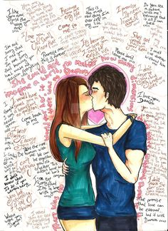 Delena ♥ I told you before that I started to read The Vampire Diaries books. This original story is so different and I was a little surprised because of the characters' look. For example, it...