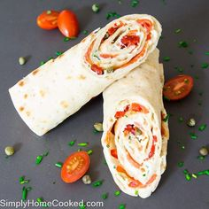 A healthy and sophisticated smoked salmon wrap recipe that doesn't require a whole lot of ingredients or preparation. Take it to work for lunch or slice it up into smaller pieces for a party appetizer. Wrap Recipes, Easy Dinner Recipes, Gourmet Recipes, Cooking Recipes, Healthy Recipes, Healthy Food, Seafood Recipes, Salad Recipes, Healthy Life