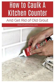 Cute Home Decoration Replace your old crumbly grout or dingy caulk with this easy DIY. Here's How to Caulk A Kitchen Counter with the quick steps and video to help you do it! How to Fill the Gap between backsplash and countertop. Caulking Tips, Diy Kitchen Island, Kitchen Decor, Kitchen Trends, Kitchen Ideas, Kitchen Updates, Layout, Easy Diy Crafts, Diy Home Improvement