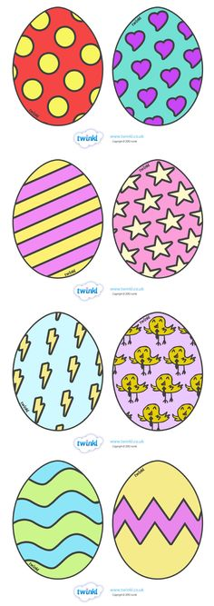 Display Easter Eggs - Pop over to our site at www.twinkl.co.uk and check out our lovely Easter primary teaching resources! easter, eggs, display #Easter #Easter_Resources
