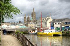 Truro, Cornwall. Roman Britain, Britain Uk, Great Britain, Places Around The World, Around The Worlds, Lincoln Cathedral, Fear Of Flying, Medieval Castle, Fishing Villages