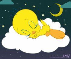 Good Night Greetings, Good Night Wishes, Good Night Sweet Dreams, Baby Looney Tunes, Looney Tunes Cartoons, Tweety Bird Drawing, Looney Tunes Personajes, Goodnight Snoopy, Tweety Bird Quotes