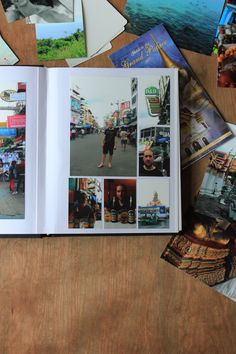 A simple holiday photobook made with a self-adhesive photo album. | It's a kingdom