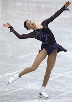 Christina Gao -Black Figure Skating / Ice Skating dress inspiration for Sk8 Gr8 Designs.