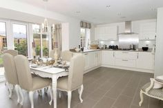 Dining Kitchen In The Holden A Four Bedroom David Wilson Home For Sale In  Hinckley