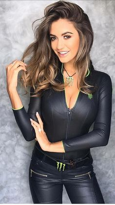 Hottest Girls in Leather Outfits Monster Energy Girls, Monster Girl, Leather Pants, Black Leather, Hot Girls, Fashion Looks, Lingerie, Sexy, Jackets