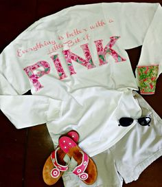 """Lilly Pulitzer inspired """"Lilly Quote Long Sleeve Monogrammed Tee"""" """"Everything is better with a Little Bit of PINK"""" Preppy Outfits, Pink Outfits, Cute Outfits, Preppy Girl, Preppy Style, My Style, Preppy Southern, Southern Prep, Future Clothes"""