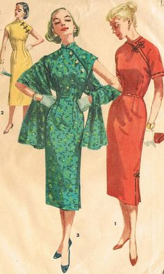 Simplicity 1447 Junior 1950s Cheongsam Dress by JFerrariDesigns, $22.00