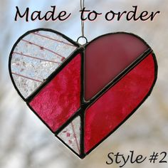The intricate stained glass heart: $28 | Flickr - Photo Sharing!