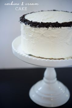 Cookies and Cream Cake - Cupcakes & Cashmere
