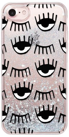 Casetify iPhone 7 Glitter Case - Evil Eyes N Lashes by MYbydesigns   Casetify Eye Phone f845c677cd8