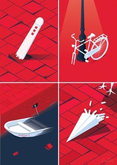 Amsterdam - 'Run-down scenes' Art Print