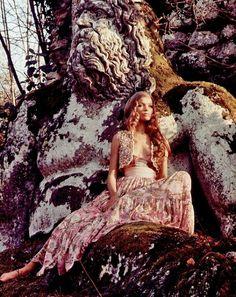 beautiful, bohemian, fashion, hippie, model, style - inspiring picture on Favim.com by Carla Kathryn Cope
