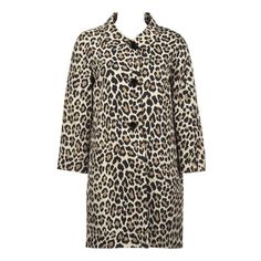 548.00 Kate Spade new york franny coat - leopard jacket features a triple bobble-esque button closure with bracelet sleeves. add fashion flare as a great topper over any basic black dress.