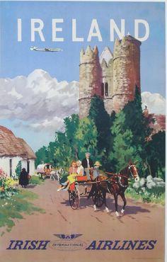 Vintage Travel Poster - Ireland