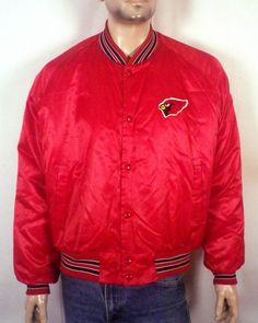 vtg 80s Chalk Line RARE defunct St. Louis Cardinals Satin Jacket NFL Arizona XXL