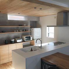 Japanese Kitchen, Japanese House, Kitchen Dining, Kitchen Decor, Kitchen Cabinets, Minimal Kitchen, Kitchen Views, Diy Kitchen Storage, Interior Decorating