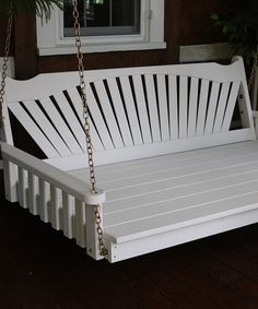 Take a look at this White Fanback Swing Bed on zulily today!