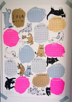 kitten of the year show calendar 2014 by charlottefarmer1 on Etsy, $32.00
